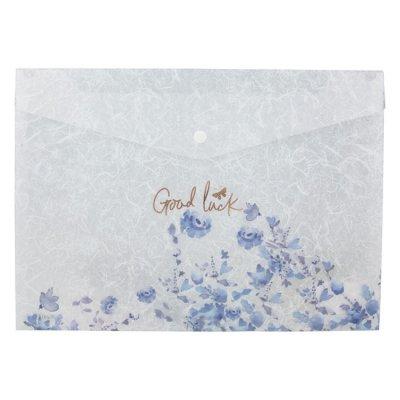 Папка джоб с копче Axent Fleur Цветя А4 Frozen Nature-03