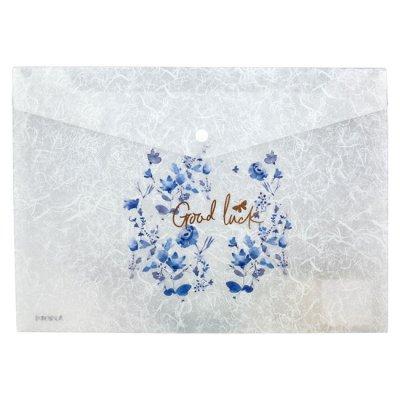 Папка джоб с копче Axent Fleur Цветя А4 Frozen Nature-04