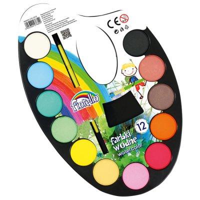 Водни бои Fiorello палитра 12 цвята