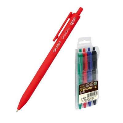 Авт. химикалка Grand 1.0 mm комплект 4 цвята