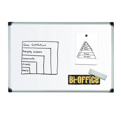 Бяла дъска с алуминиева рамка Bi-Office 90х120 c