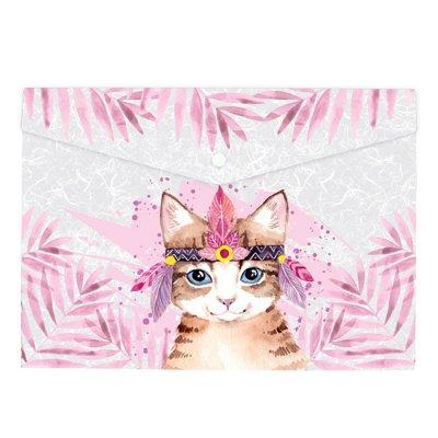 Папка джоб с копче Axent Животни А4+ Котка