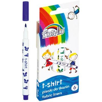 Маркери за текстил Fiorello 6 цвята