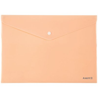 Папка джоб с копче Axent Pastelini Оранжев