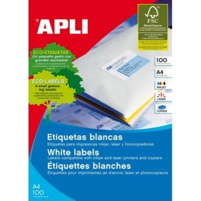 Етикети Apli 63.5x46.6 mm А4, 100 л. 18 етик.