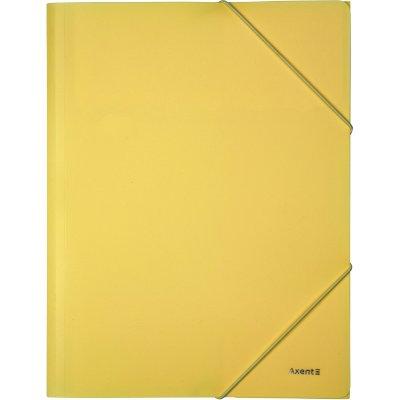 Папка PP с ластик A4 Axent Pastelini Жълт