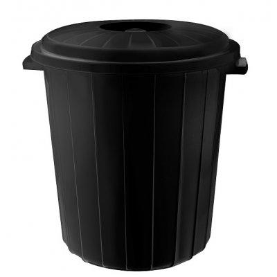 Кош с капак PLANET 70 литра Черен