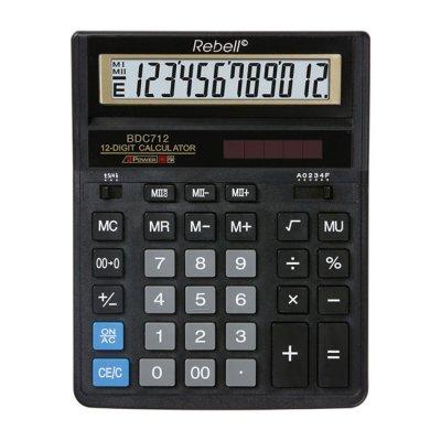Настолен калкулатор Rebell BDC712 Черен