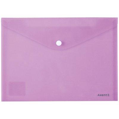 Папка джоб с копче Axent Pastelini Виолетов