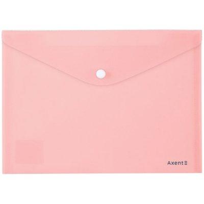 Папка джоб с копче A5 Axent Pastelini Розов