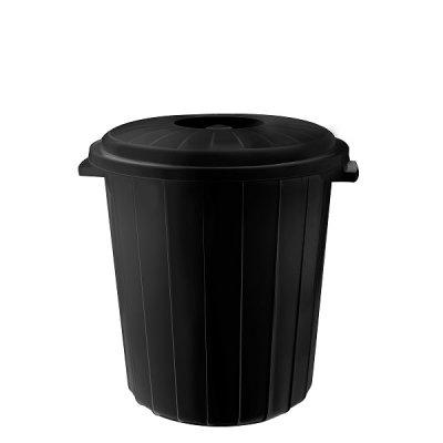 Кош с капак PLANET 25 литра Черен
