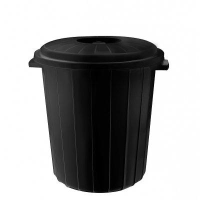 Кош с капак PLANET 50 литра Черен