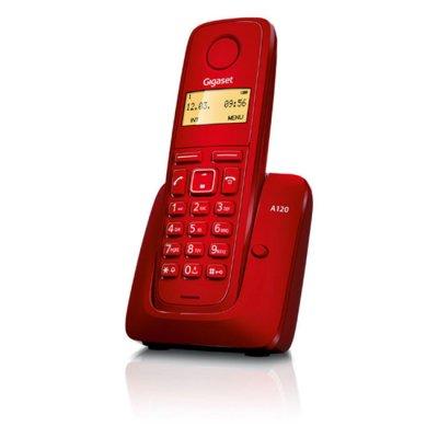 Безжичен телефон Gigaset A120 Червен