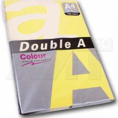 Цветна хартия Double A паст. A4 Yellow 50л. 80 g