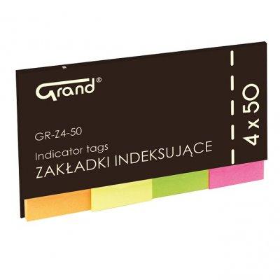 Лепящи индекси Grand GR-Z4-50 50х20mm 4x50л. неон