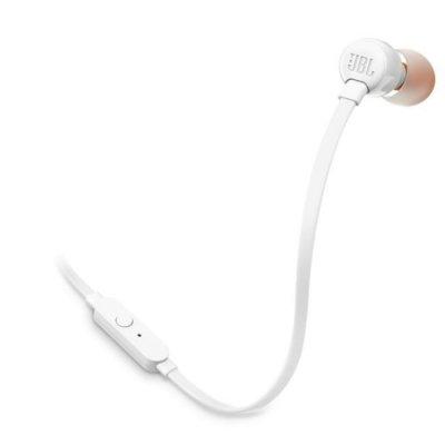 Слушалки с микрофон JBL T110 In ear headphones Бели