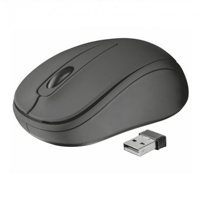 Мишка Trust Ziva Wireless compact mouse Черен