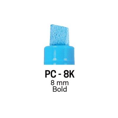 Маркер Uni PC-8K 8 mm Вишневочервен