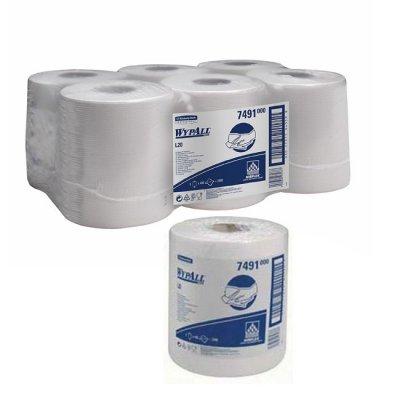 Кухненски ролки Wypall*L10 двупластова 400 къса Бял