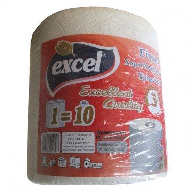 Кухненска ролка Excel трипл. 1 бр. Бял