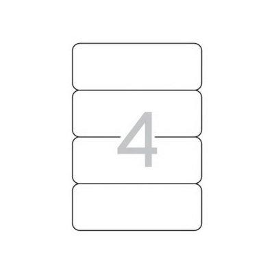 Етикети за класьор Apli 190х61mm А4, 25л. 100 ет. Бели