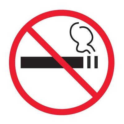 Самозалепващ знак Apli за стъкло Пушенето забранено