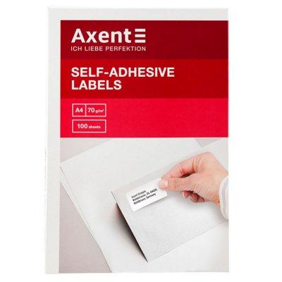 Етикети Axent 70x25.4 mm 100 л. 33ет. Бели