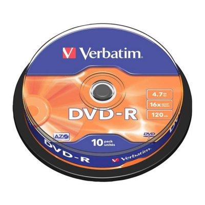 DVD-R Verbatim 16x 4.7 GB шпиндел 10 бр.