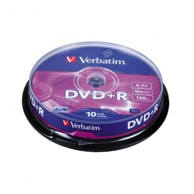 DVD+R Verbatim 16x 4.7 GB шпиндел 10 бр.