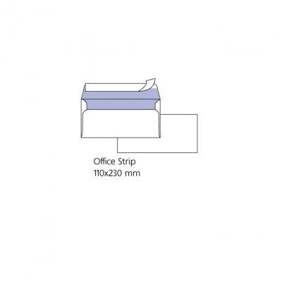 Плик бял DL 110x220 mm Стикер 25 бр.