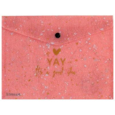 Папка джоб с копче Axent А4+ Shade Розов