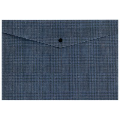 Папка джоб с копче Axent А4+ Tartan Син