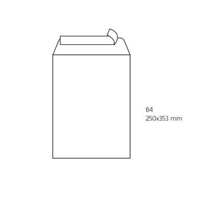 Плик бял B4 250х353 mm Стикер 25 бр.