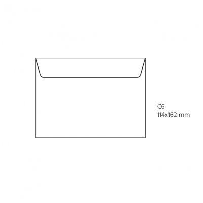 Плик бял C6 114х162 mm Стикер 25 бр.