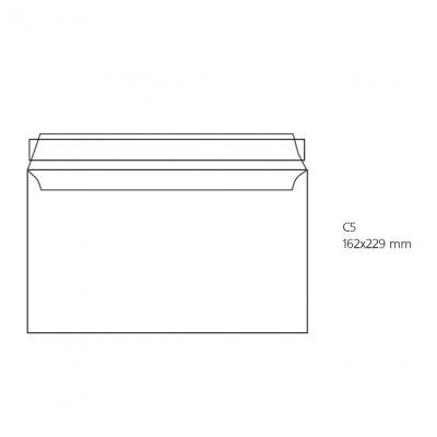 Плик бял C5 162х229 mm Стикер 500 бр.