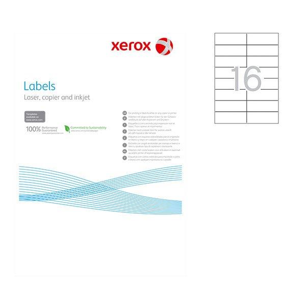 Етикети Xerox 105x37 mm A4 100 л. 16 етик.