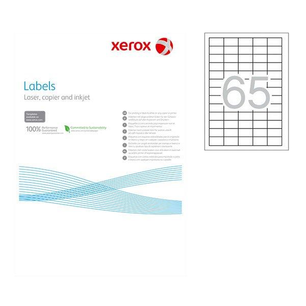 Етикети Xerox 38.1х21.2 mm A4 100 л. 65 етикета, заоблени