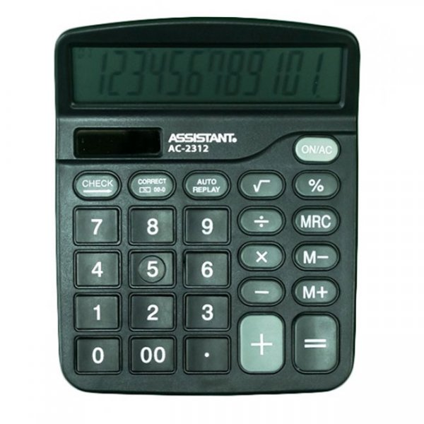 Настолен калкулатор Assistant AC 2312 Черен