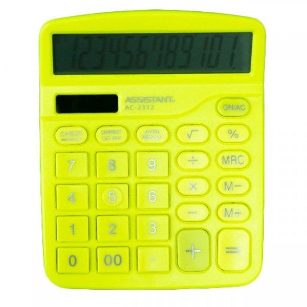 Настолен калкулатор Assistant AC 2312 Жълт
