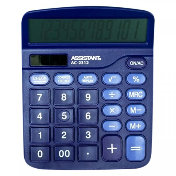 Настолен калкулатор Assistant AC 2312 Лилав