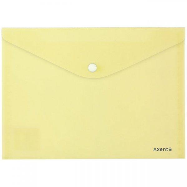 Папка джоб с копче A5 Axent Pastelini Жълт