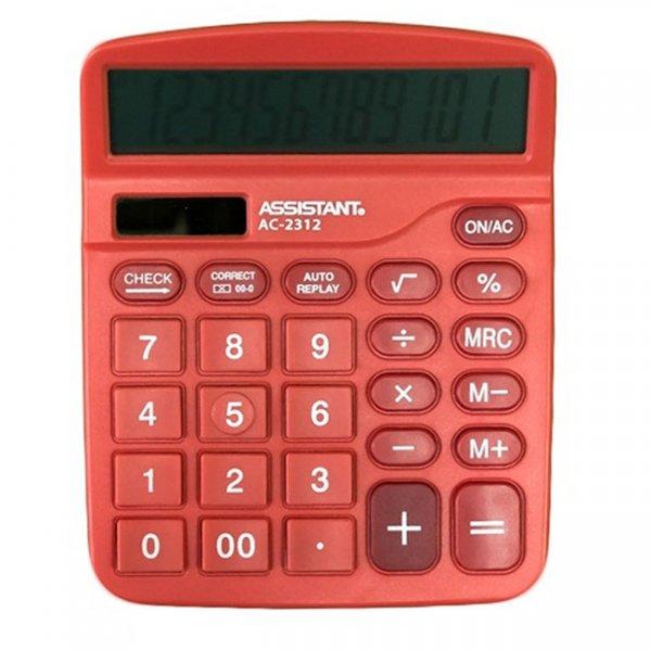 Настолен калкулатор Assistant AC 2312 Червен
