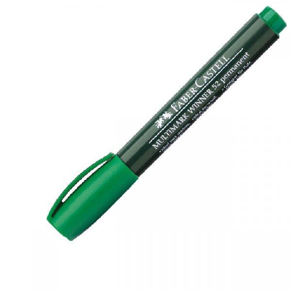 Перманентен маркер Faber-Castell Winner 52 Объл вр Зелен