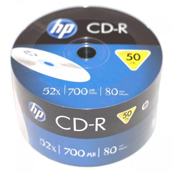 CD-R Hewlett Packard 700 MB, 52x, 50 броя във фолио
