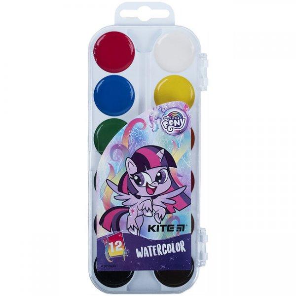 Водни бои Kite Little Pony `21 медени 12 цвята