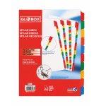 Разделители GLOBOX MYLAR цифри 1-10, картон, цветни