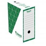 Архивна кутия картон Axent 350x255x150 mm Зелен