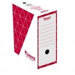 Архивна кутия картон Axent 350x255x150 mm Червен