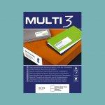 Етикети Multi 3 70x42.4 mm А4, 100 л. 21 етик.