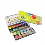 Aкварелни бои JOLLY SUPERTABS METALLIC+ NEON MIX , метална кутия, 24 цвята